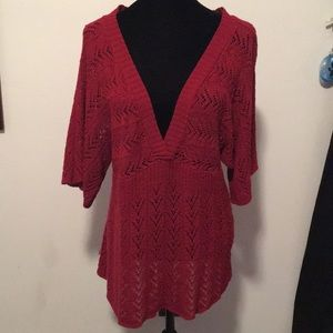 Faded Glory Red Knit Top